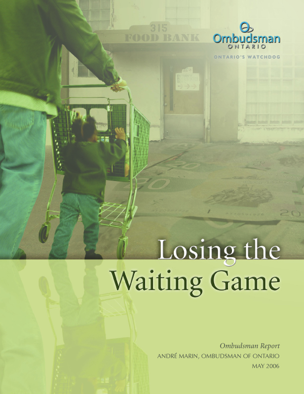 Cover of report, Losing the Waiting Game