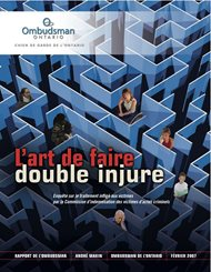 Couverture du rapport L'art de faire double injure