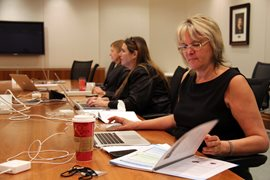Employees of the office of the Ontario Ombudsman having a meeting