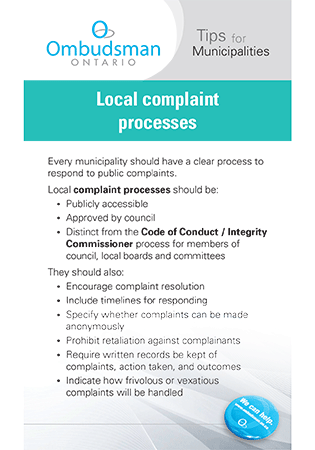 Link to Local Complaint Processes