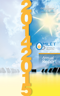 Cover of the 2014-2015 OMLET Annual Report