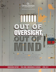 cover of Out of Oversight Out of Mind report