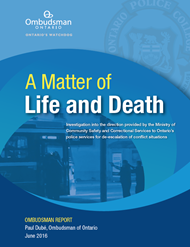 Cover of report, A Matter of Life and Death
