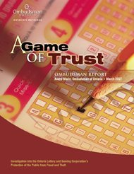 Cover of report, A Game of Trust