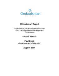 "Cover of the ""Public Notice"" report"
