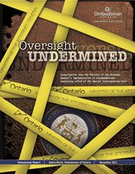cover image for the Oversight Undermined report