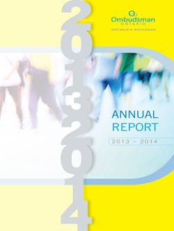 Cover of 2013-2014 annual report