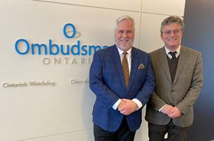 February 2020: International visitors to our Office during this month included Rob Behrens, United Kingdom Parliamentary and Health Services Ombudsman, investigators for the Ombudsman of Botswana (pictured with Ombudsman Paul Dubé and Deputy Ombudsman Barbara Finlay), and Andreas Pottakis (pictured here), Ombudsman of Greece.