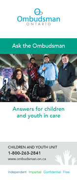 Link to Information Brochure for children and youth in care and service providers