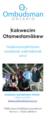 Link to Moose-Cree Brochure for children and youth in care and service providers