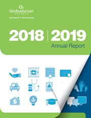 Cover of the Ombudsman Ontario's 2018-2019 Annual report
