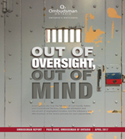 Cover image of the Out of Oversight, Out of Mind report